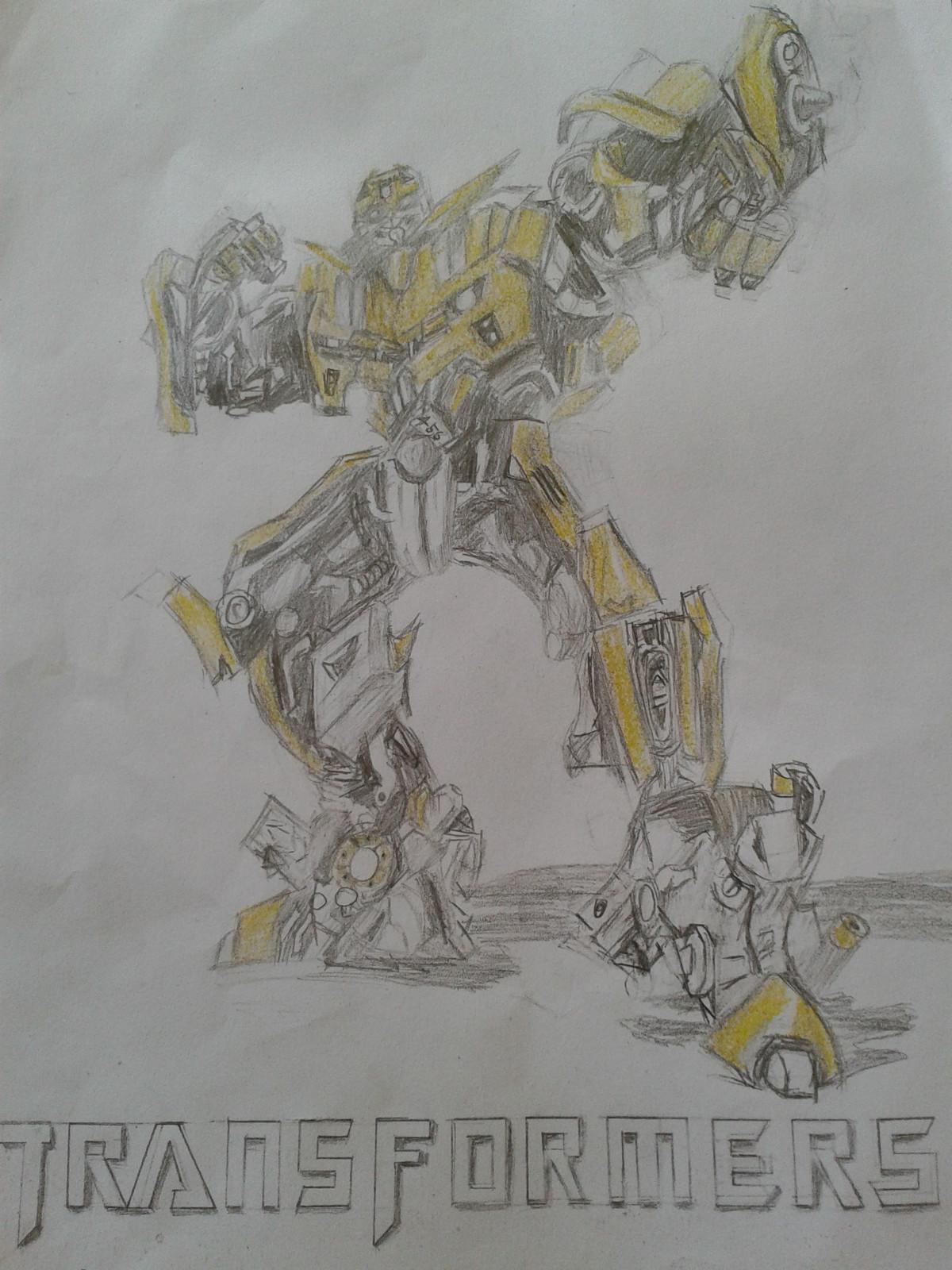 来自于 小学生素描变形金刚大黄蜂 的照片高清图片