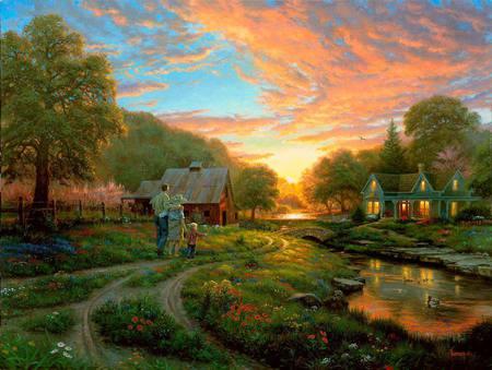 异国画苑(902)美国画家 Mark Keathley风景画 - 笑然 - xiaoran321456 的博客
