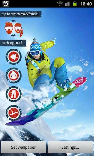 华丽滑雪动态壁纸-应用截图