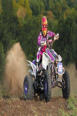 高速沙漠摩托赛