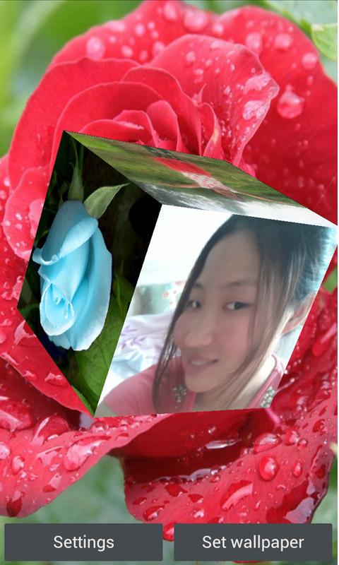 3D玫瑰动态壁紙-应用截图