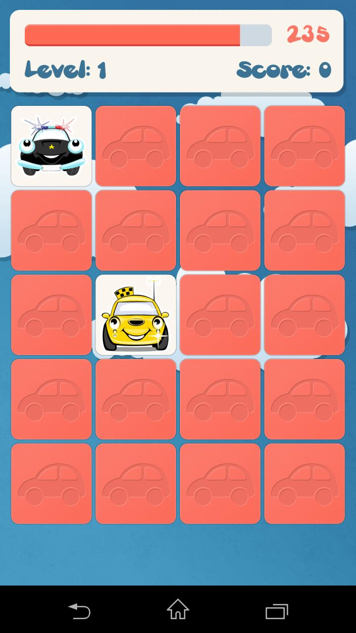 儿童记忆游戏汽车-应用截图