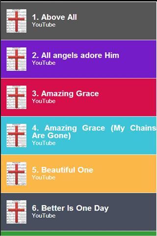 【免費媒體與影片App】基督教歌曲-APP點子