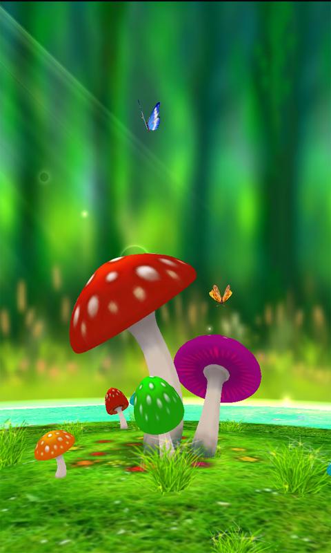 超清3D蘑菇动态壁纸-应用截图