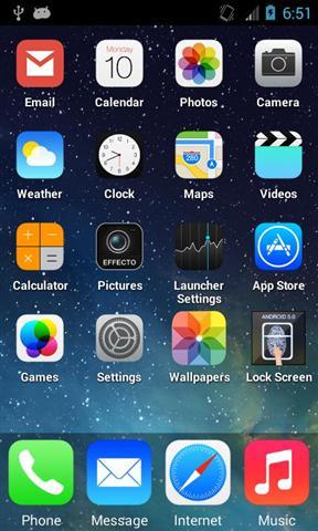 仿iPhone 5S 主题