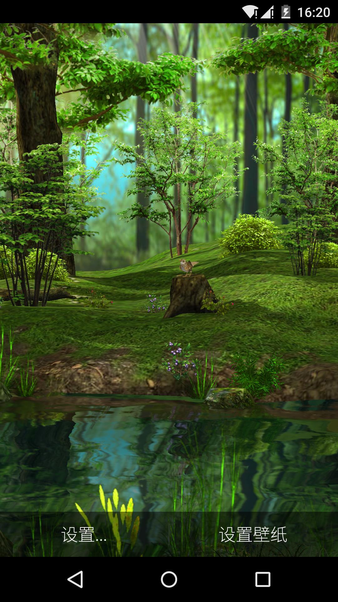 3D晨光森林-梦象动态壁纸-应用截图