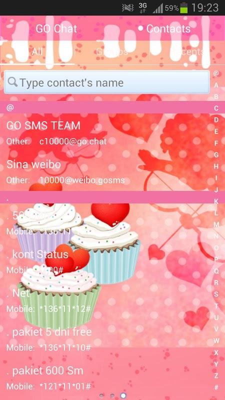 免費個人化App|GO SMS Pro Theme Cupcake Heart|阿達玩APP